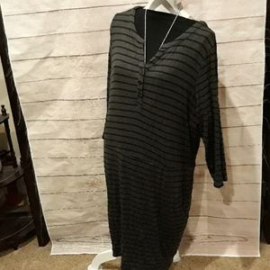 Long sleeve sweater dress.